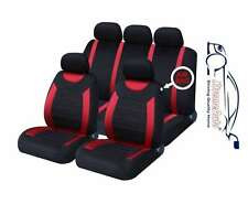 Oxford Rosso 9 Pezzi Set completo di sedile copre per Audi A3