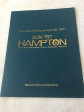 US Navy Christening Book Hampton Submarine SS-767 28 September 1991