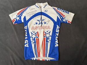 Levi Leipheimer Autographed? Astana Cycling Jersey Size Small Made In Italy