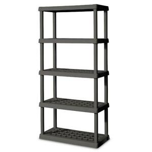 Sterilite 5 Shelf Unit Flat Gray
