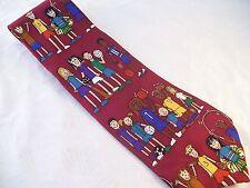 Save the Children Play Fair Kids Sports Tie Men's Silk Necktie Red USA