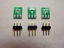 SOT23 & SOT23-3 to SIP3 PCB Adapter Board & 3sets of header pins 3Pcs