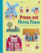 Usborne Press-out Paper Farm (hc) by Fiona Watt house,windmill,barn,animals NEW