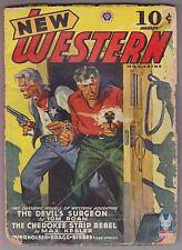 New Western Jan 1943 Pulp Tom Roan Wayne D Overholser William F Bragg Adam Sand