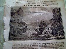 52501 ephemera 1823 article the chain bridge in china