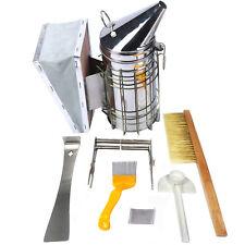 6 Pcs Kit Beekeeping Equipment Tool Bee Brush Catcher Fork Cage Queen Hive