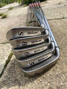Wilson Fat Shaft Platinum Regular Flex Golf Clubs 4 5 6 8 Iron & Sand Wedge