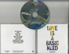 EMBRACE Love Is A Basic Need 2018 UK 10-track promo CD