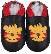 shoeszoo tiger dark blue 2-3y soft sole leather toddler shoes