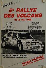 Affiche Course Voitures 5e RALLEY DES VOLCANS 1986