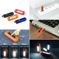 4Color USB Rechargeable Mini COB LED Camping Flashlight Light KeychainFlashlight