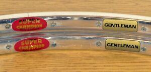 Super Champion Gentleman 700C 36-hole Rims (Pair) NOS