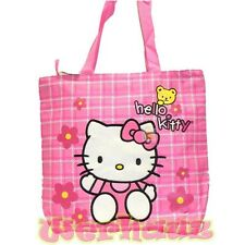 Sanrio Hello Kitty Pink Tote Bag with Flower and Yellow Bear, NEW