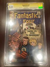 Fantastic Four #45 SIGNED BY STAN LEE CBCS CGC 5.0 Signature Series 1ST INHUMANS