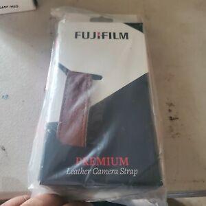 Fujifilm Premium Leather Camera Strap, Brown #600018569
