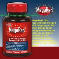 80 Softgels Schiff MegaRed Omega-3 Krill Oil 750mg Exp 05/2020 Joint Care Health