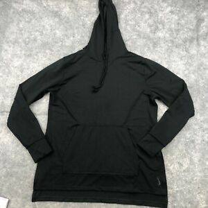 Nike Pullover Womens Large Black Long Sleeve Hooded Workout Running Dri Fit