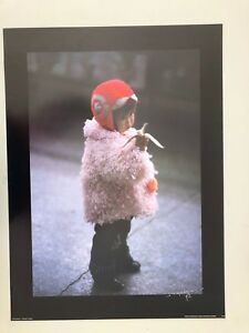 CHINA,SMALL GIRL,1989 BY DUPIEREUX RARE AUTHENTIC 1980's ART PRINT