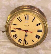"""Vintage Smith Astral Ship's Clock 9"""" Case Runs Time Only Runs England"""