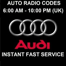 AUDI Radio Pin Unlock Code Service RNS-E Plus + Symphony Concert 2 Chorus - FAST