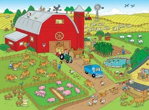 Jigsaw puzzle Seek and Find 101 Things on the Farm 101 Piece NEW