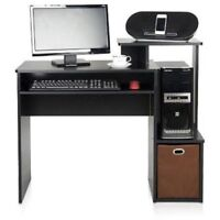 NEW Furinno Econ Multipurpose Home Office Computer Writing Desk with Bin