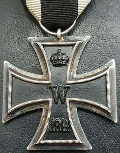 """✚9796✚ German WW1 Iron Cross II. Class medal Eisernes Kreuz maker: """"A"""" Assmann"""