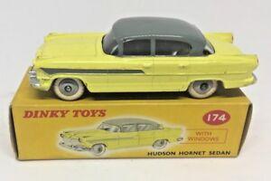 Dinky 174 HUDSON HORNET SEDAN two-tone yellow/grey - NEAR MINT BOX AND MODEL