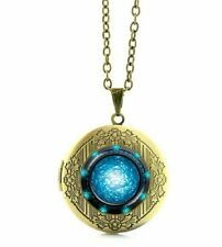 Stargate SG1 Portal Logo Glass Domed Locket Style Metal Pendant Necklace