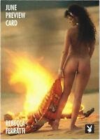 TC Playboy June 1996 Sports Time Promo Card 1PR Rebecca Ferratti