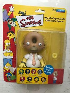 Emballé Playmates Interactif The Simpsons Séries Donut Tête Homer Action Figure