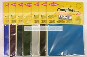 2 x Nylon Repair Patches Self Adhesive Camping Tents etc  ( Choice Of Colour )