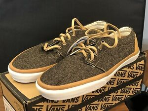 Vans 106 Vulcanized Tweed Brown True White New Sz 10 US No Reserve!