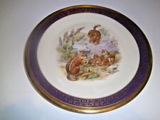Vintage Lenox Boehm Woodland Wildlife Plate Eastern Chipmunks 1976 Usa
