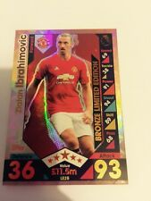 Match attax extra 2016/2017 ibrahimovic bronze limited edition card