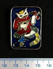 "USSR PIN VINTAGE.Russian Badge. ""Puss'n Boots"".Le Chat Botté.Enamel button RARE!"