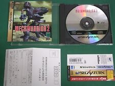 Sega Saturn -- Mechwarrior 2 -- included spine card & postcard. *JAPAN!!*  18661