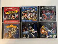 6 Disney/Pixar PC Games - Toy Story, Mickey, Lilo & Stitch, Buzz Lightyear