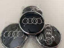 Audi 4x 61mm Felgendeckel 4M0601170 Nabenkappen Schwarz Chrom 60mm Radzierkappe