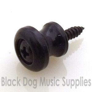 Small guitar, mandolin, Banjo or Ukulele strap pin button chrome Black Gold