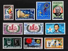DAHOMEY C16//C31 Mint Hinged TEN EARLY AIRMAILS 1961-1966 CV $21.95