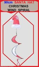 SANTA HAT Christmas WIND SPIRAL 90cm Festive Home Indoor Garden Party Decoration