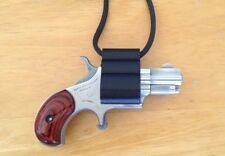 North American Arms NAA .22 Short, Black neck holster.