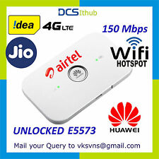 HUAWEI e5573  LTE 150 Mbps 3G 4G SIM to WIFI WIRELESS PORTABLE ROUTER JIO AIRTEL