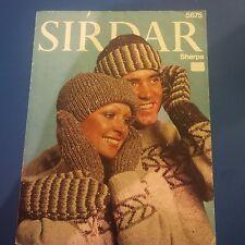 Sirdar Hats & Mittens Knitting Pattern 5675