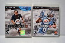 Fiffa Soccer 13 &Madden NFL 13 PS3 Lot Set of 2