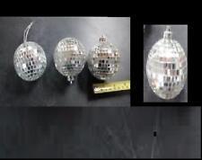 "One 2-2.5"" Silver DISCO BALL glass mirror party favor car hanging wedding chrome"
