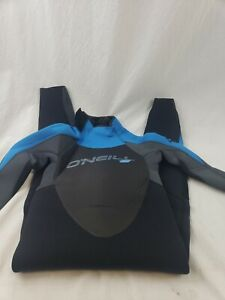 O'Neill Youth Epic 4/3 Back Zip Full Wetsuit Black/Graphite/Bright Blue