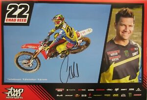 Chad Reed autographed signed Shift Two Two motocross or supercross promo poster