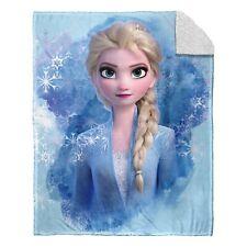 "Disney Princess Frozen II Elsa Silk Touch Sherpa Throw Blanket 40"" x 50"""
